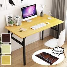 Składane drewniane biurko komputerowe biurko na laptopa przenośne do domowego biura nowoczesny prosty stół do pisania stół do nauki meble biurko PC tanie tanio CN (pochodzenie) Computer Desks Pc biurko wooden