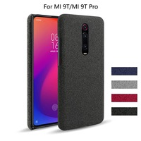 MI 9 T-funda de lona de lujo funda de teléfono para Xiaomi Mi 9 T Pro, Funda de cuero de tela fina, cubierta protectora con soporte