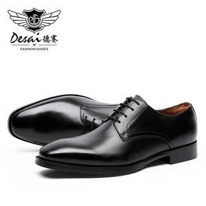 Image 5 - DESAI أحذية الصيف الرسمية حقيقية التنفيذي جلد أكسفورد أحذية للرجال السود 2020 فستان الزفاف الأحذية