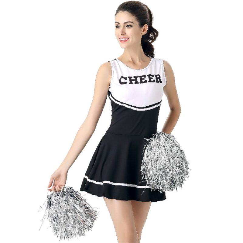 6 Colors High School Girl Music Mini Dress Cheerleader Uniforms Sexy Girl Stage Performance Female