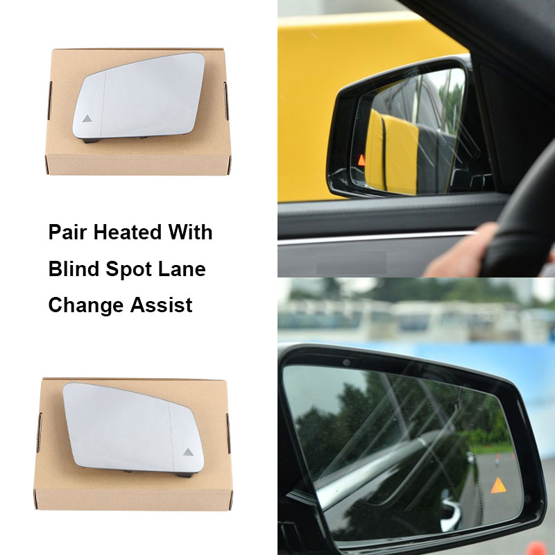 Wide Angle LEFT HAND 2013 to 2017 Mercedes CLA Wing Mirror With Base Heated