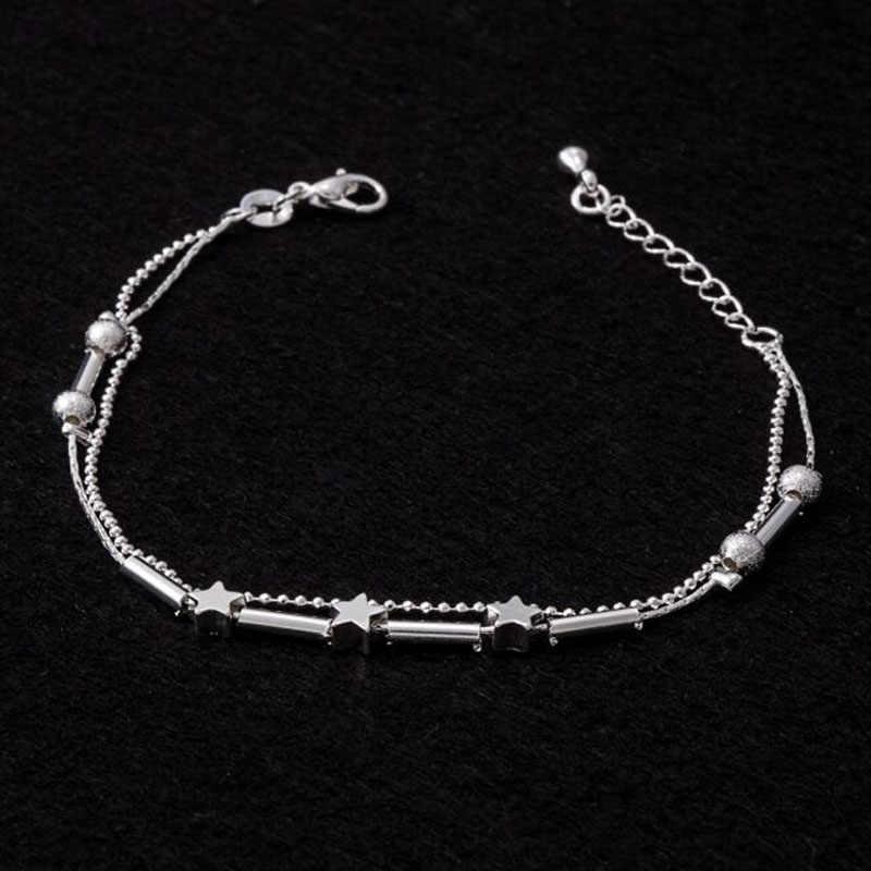 5 dzwonów damski łańcuszek bransoletka na kostkę boso sandał plaża biżuteria na stopy gorąca sprzedaż małe pudełko damski łańcuszek dla pani idealny prezent