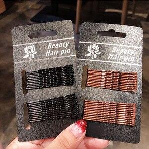 24 шт./упак. Женские базовые черные золотые заколки 5 см, женские заколки для волос, ободки для волос, женские хорошие качественные шпильки для волос, аксессуары для волос