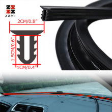 1.6M  Car Rubber Sound Seal Strip U Type Dashboard Insulation Auto Windshield Edges Gap Sealing Strips Interior Accessories