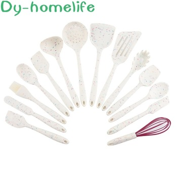 Silicone Cookware Set Candy Pattern Creative Non-Stick Pan Shovel Household Kitchen Tools High Temperature Shovel Spoon
