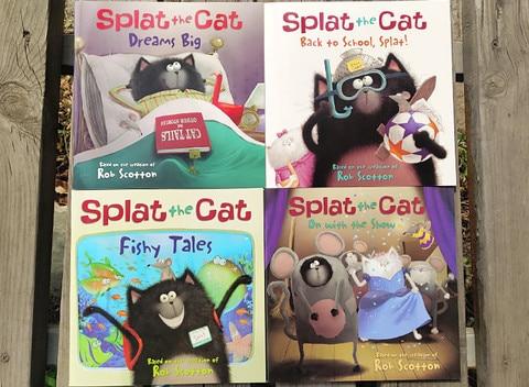 12 livros conjunto splat gato engracado