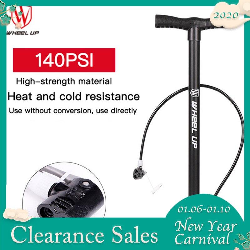 Roue Up Portable Mini vélo haute pression pompe 120PSI vélo pompe à main en acier vélo accessoires cylindre basket-ball pompe