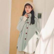 Winter Coat Women Woolen Cloth Mont Sweet Girl Veste Femme Casaco Feminino Jas Manteau Hiver Dames Jassen Jacket