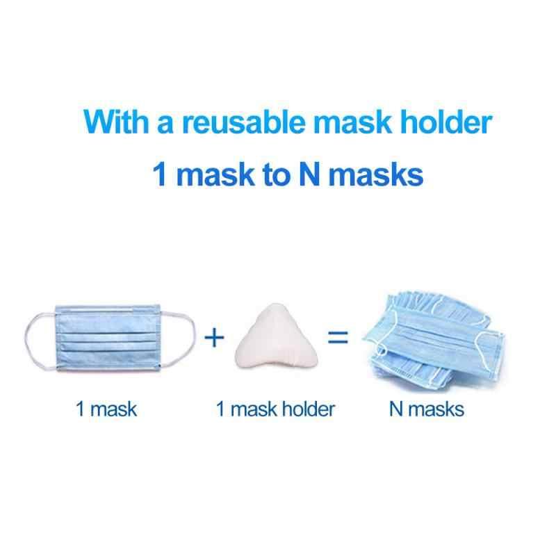 PYBBO reutilizable soporte interior de silicona para m/áscara de soporte 10 soportes para m/áscara 3D nariz y respiraci/ón suave marco para protecci/ón de pintalabios