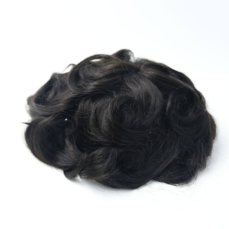 Fine Mono Base With 1 Inch Clear Poly All Around Toupee Replacement System For Men Rosa Queen