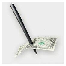 Фокус шариковая ручка бренд черный маг игрушка Через Билла проникновение доллар ручки трюк 1061