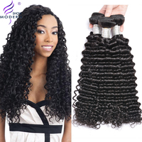 Modern Show Brazilian Deep Wave Hair Bundles Deal 100% Human Hair Extension 3 and 4 Bundles Avaiable Non Remy Hair Weaves