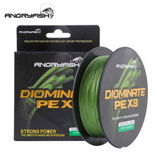 Angryfish D-Braid X8 Fishing Line 527YDS/500M 8 Strands Braided Fishing Line Multifilament PE Line 8 Weaves Strong Braided Wire