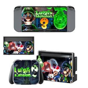 Image 1 - Luigi erkek Mansion 3 Nintendoswitch cilt Nintendo anahtarı çıkartmalar Nintendo anahtarı konsolu için Joy con denetleyici Dock Skins Sticker