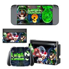 Luigis Mansion 3 Nintendoswitch Skin Nintend Switch Stickers for Nintendo Switch Console Joy con Controller Dock Skins Sticker