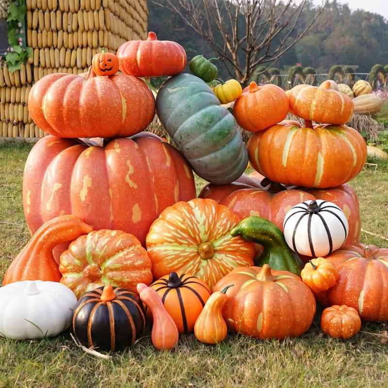 Simulation Pumpkin Model Table Display Halloween Artificial Vegetable Diy Craft Home Birthday Party Wedding Decoration