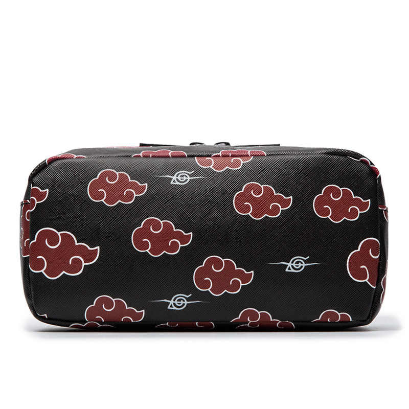 Anime Naruto Akatsuki PU Leather Pen Cosmetic Bags Pencil  Hokage Cosplay Makeup Cases Collectible Purse Boys Gift for girl