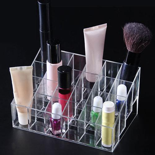 40/24 Grids Acrylic Makeup Organizers Lipstick Holder Display Stand Cosmetic Makeup Brush  Great To Display Lipsticks And Other