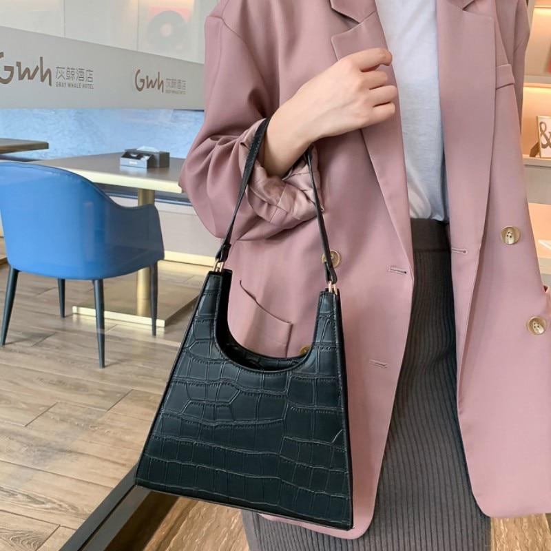 Women Bag Fashion Casual Vintage Concise All-match Handbag Single Shoulder Female Tote Bag