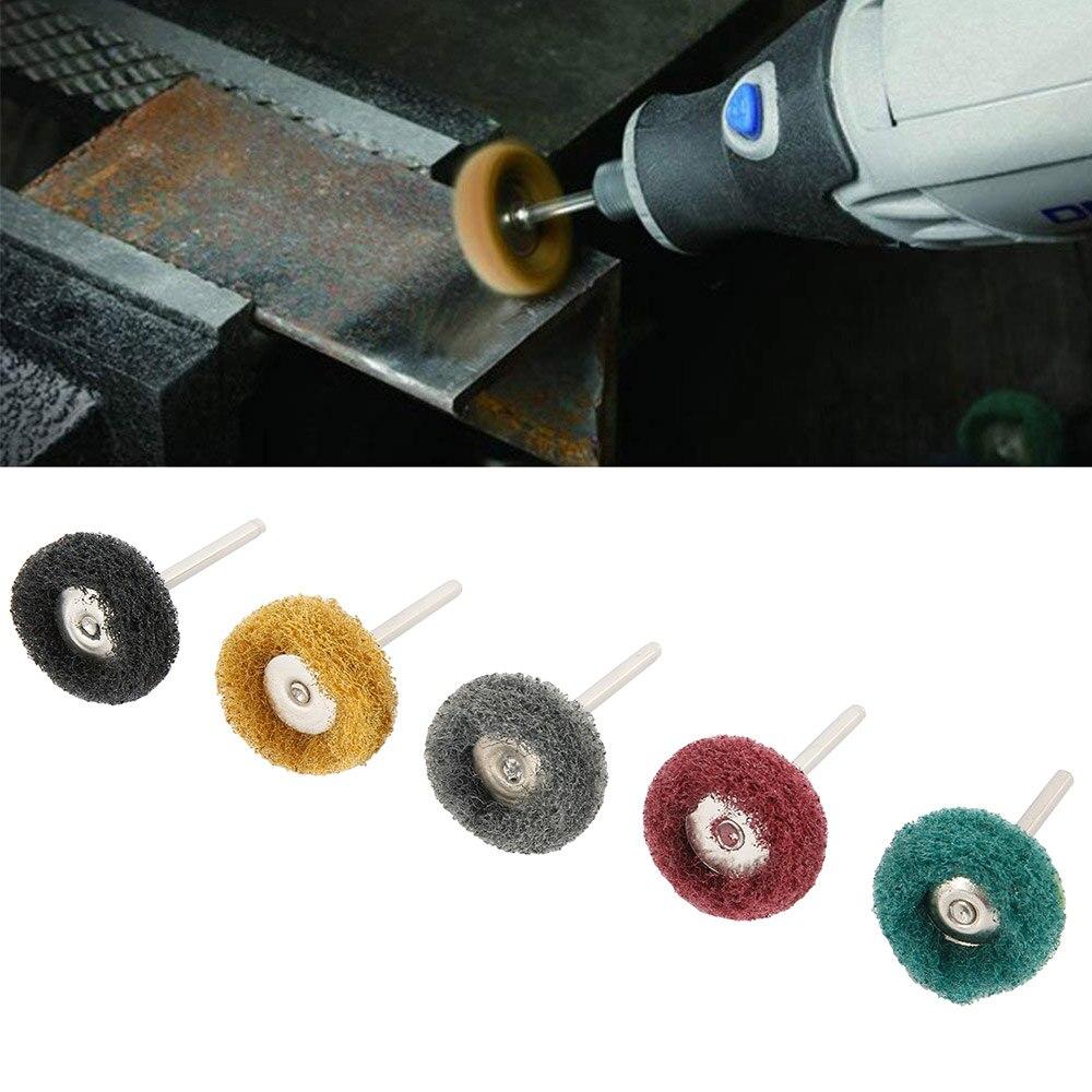 80Pcs 25mm Abrasive Wheel Buffing Abrasive Wheel Brush Scouring Pad Polishing Buffing Wheel Kit Polishing Wheel Polishing Buffing Wheel