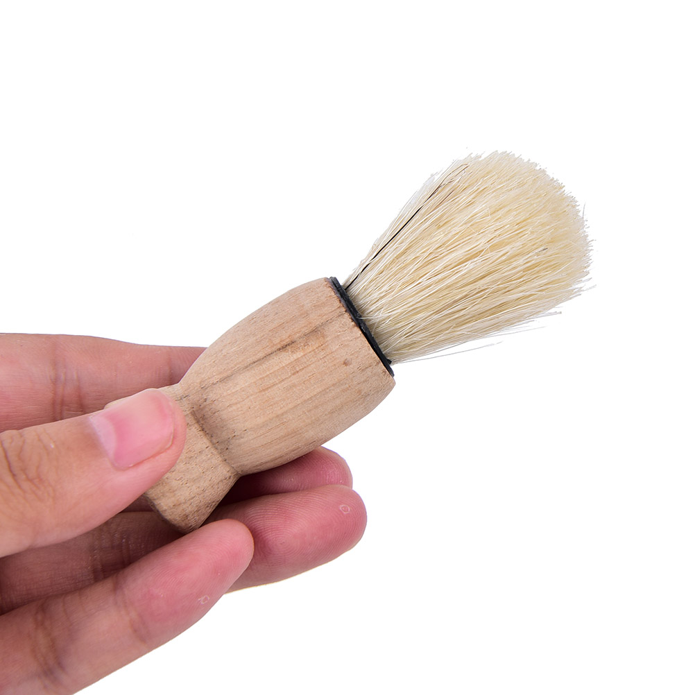 1Pc Professional Wood Handle Badger Hair Beard Shaving Brush For Best Men Father Gift Mustache Barber Tool Face For Salon