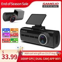 Sameuo U750 Pro Dash Cam Rückansicht GPS Auto Dashcam WIFI Für Auto Kamera 1440P 2K Video Recorder reverse Dvr 24H Parkplatz Monitor