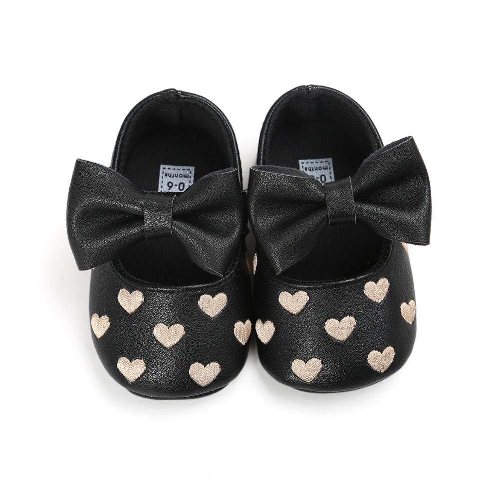 LZH Baby PU Leather Shoes For Baby Girl Moccasins Moccs Shoes Bow Love embroidery Fringe Soft Soled Non-slip Footwear Crib Shoes