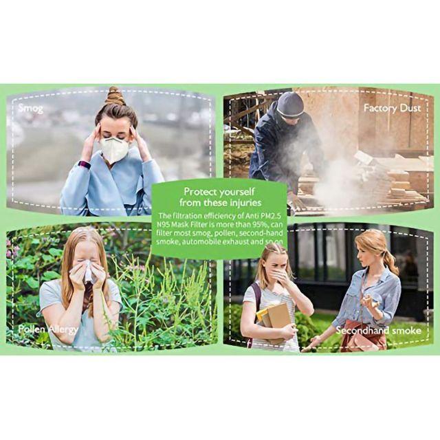 5Pcs  Mask Anti-Flu  SARS Flu Outdoor Dust 4