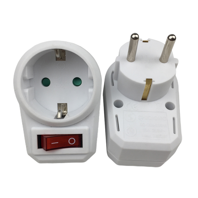 European Standard German Standard Power Conversion Plug Socket With A Switch And Converter German-style One To One Plug Socket