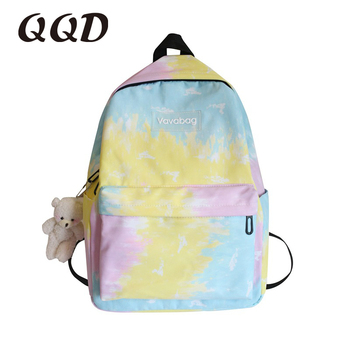 QQD women backpack teenage school bag  book travel backpack fashion girl student High capacity rucksack female high quality new brand new women backpack large capacity computer bag fashion black bags high quality travel rucksack backpacks