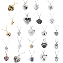 1pcs Stainless Steel Cremation Ash Jewelry Heart Urn Necklace Memorial Keepsake Heart Pendant Funnel Fill Kit
