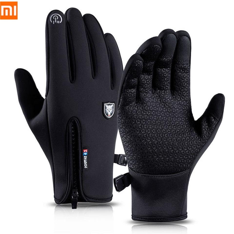 Xiaomi Winter Gloves Thermal Warm Waterproof Windproof Outdoor Sports Cycling Gloves Full Finger Touch Screen Glove Men Women