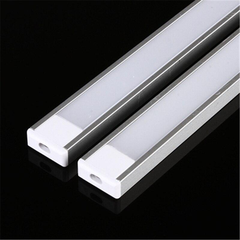 2-30 шт./лот, алюминиевый профиль U Style 0,5 м для 5050 5630, Светодиодная лента, молочный/прозрачный корпус для алюминиевого канала