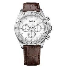 BOSS IKON Luxury Men Watch Business Mens Quartz Chronograph with Leather Strap - 1513175