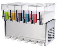 BAYSJ12X6 Juice Dispenser Cold Drink dispenser for juice coffee soft drinks in hotel restaurant  bar  convenience store