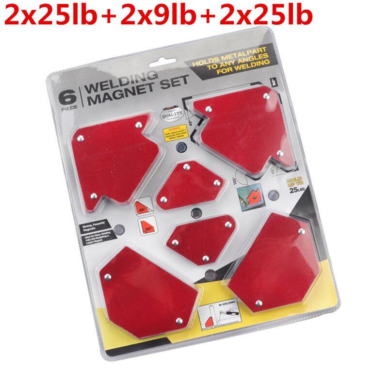 Tools : Arrow Magnetic Angle Clamp 6pcs Set Multi-angle Magnet Welding Holder For Welding Magnet 2x 9lbs 2x 25lbs 2x 25lbs Mig Tools