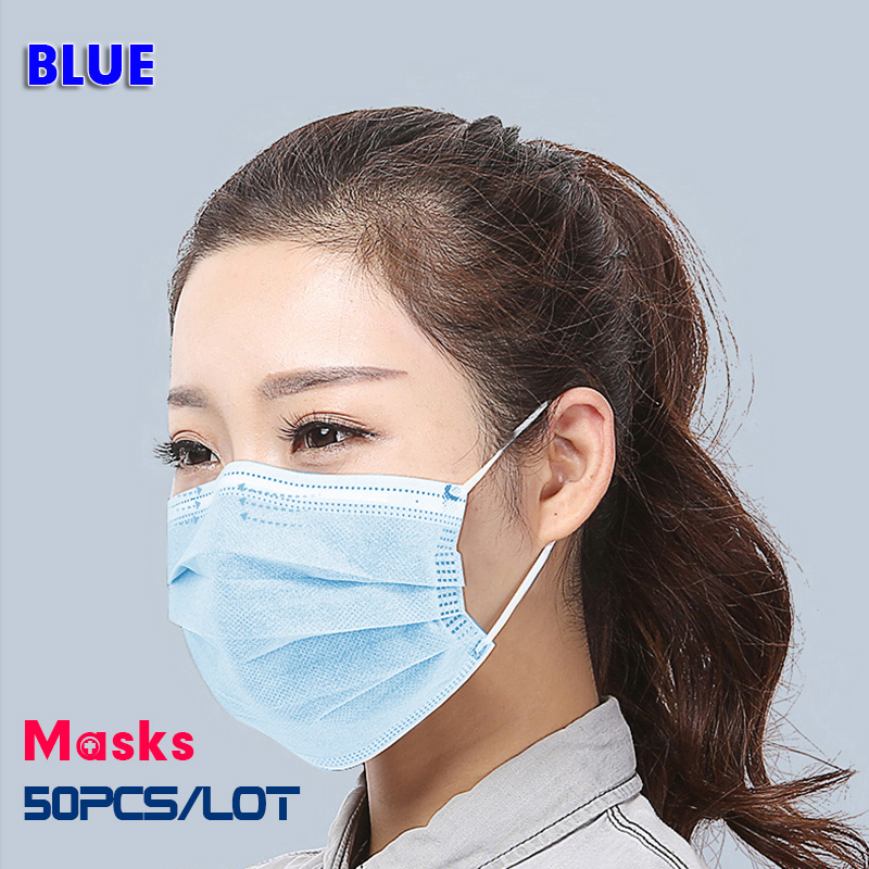 Image 3 - Profession Medical Mask Anti Virus Dust 50Pcs Medical Surgical 