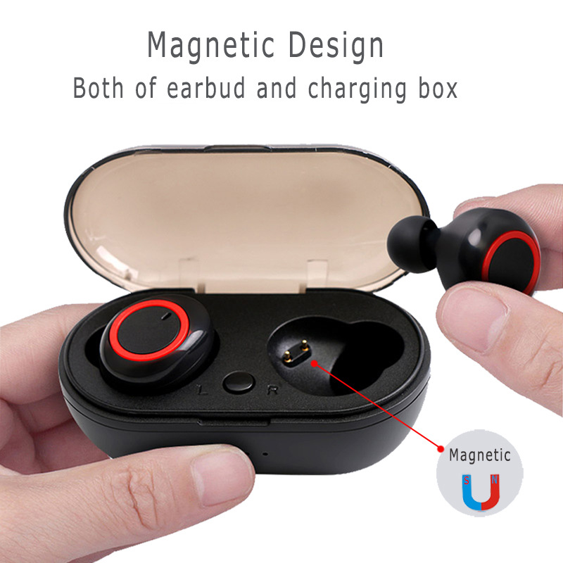 JIMARTI Y50 bluetooth earphone 5.0 TWS Wireless Headphons earphones  Earbuds  Stereo Gaming Headset With  Charging Box for phone