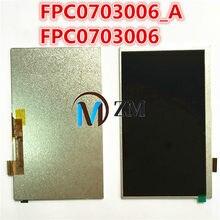 Original 7 polegada display lcd matriz fpc0703006_a fpc0703006 3g tablet 1024*600 lcd tela moldura da lente substituição