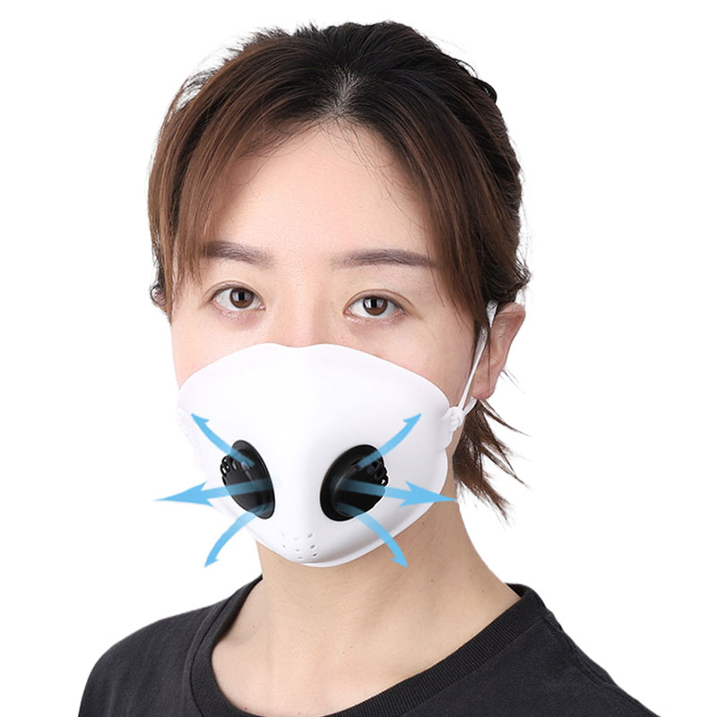 Soft Silicone Adults Kids Mouth Face Masks Filters Respirator with 2 Breathing Valve Dustproof Anti PM2.5 Air Pollution Use|  - title=