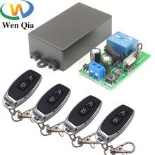 433 433mhzのユニバーサルリモートコントロールac 110v 220v 1CH rfリレー受信機と送信機のためのユニバーサルledライトとドアコントローラ