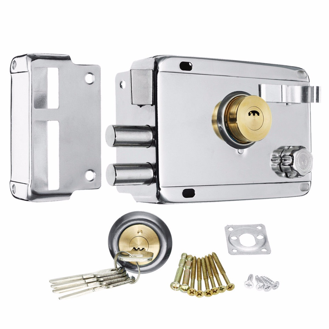 1pc Exterior Door Lock Security Anti-theft Lock Mortise Lock Insurance Gate Lock for Home Furniture Hardware