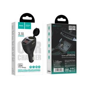 Image 5 - 高速オンチップ · オシレータデュアル USB 車の充電器 + シガーライタースロット Led ディスプレイ 96 ワット 3.1A 急速充電車の充電器アダプタ iphone 11 プロ