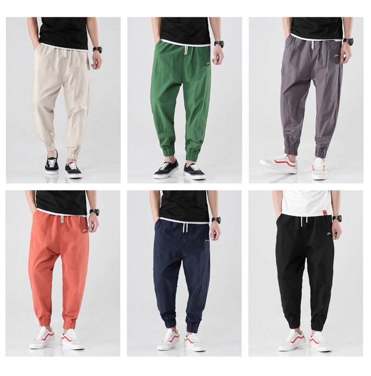 Freewill Japanese-style Popular Brand 2018 Summer New Style Multi-color Capri Pants