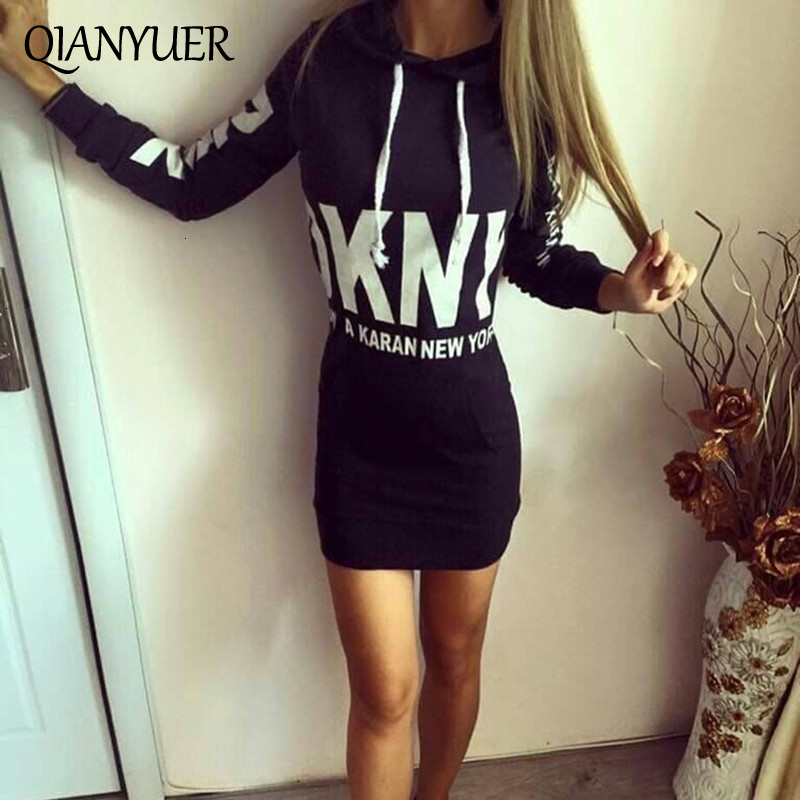 Women Sexy Dress Sweatshirt Autumn Winter Hoodied Dress Fashion  Package Buttocks Long Sleeve Dresses For Women Black White Gray