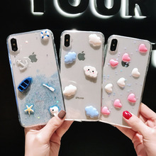 New cloud accessories Epoxy phone case for iPhone 6 7 8 anti-drop iPhoneX XS XR Max/iPhone 6S Plus Phone