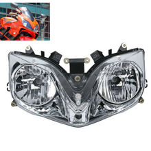 Motorcycle Front Clear Headlight Head Light Lamp Assembly For Honda CBR600 CBR 600 F4i 2001-2007 2002 2003 2004 05 06 Motorbike customize injection molded for honda cbr 600 f4i fairings 01 02 03 black red cbr600 2001 2002 2003 fairing body kit re24