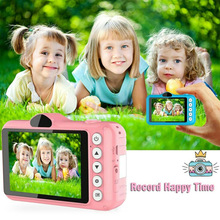 Digital-Camera Kids Children Selfie Mini Cartoon Cute 1080P HD for Educational-Toys Birthday-Gifts