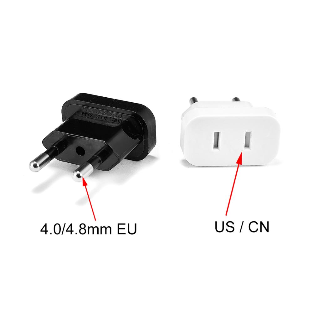US To EU Euro Europe Plug Power Plug Converter Travel Adapter US To EU Adapter Electrical Socket