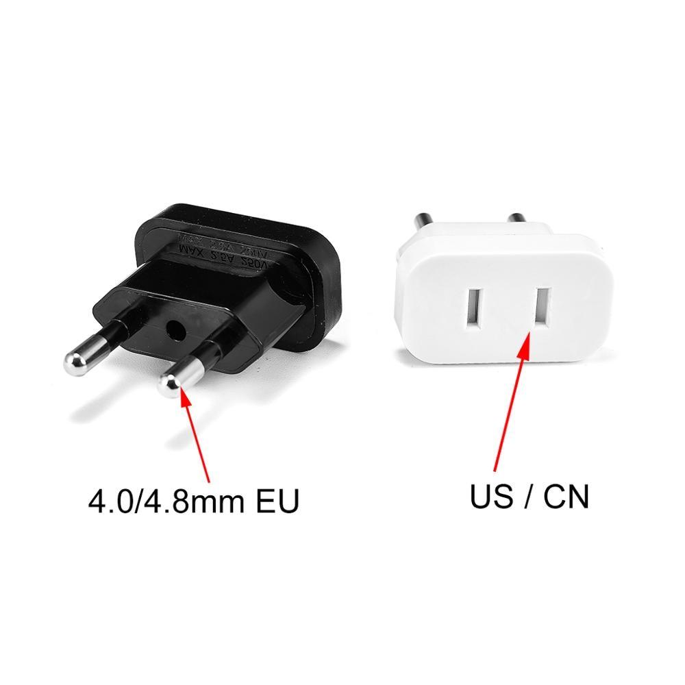 US To EU Euro Europe Plug Power Plug Converter Travel Adapter US To EU Adapter Electrical Socket